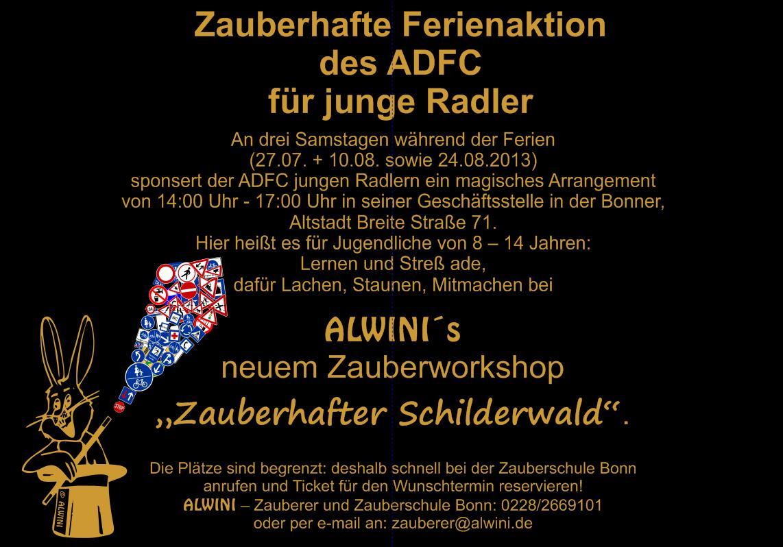 Zauberhafte Ferienaktion des ADFC für junge Radler mit Zauberer Alwini